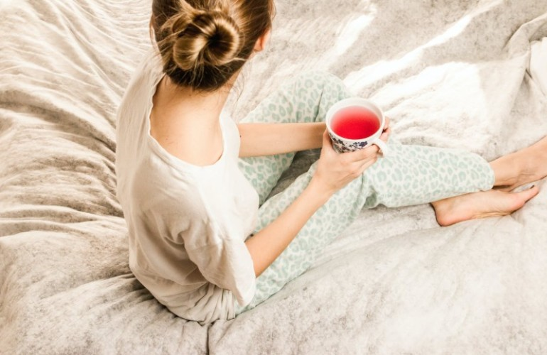 Things You Are Missing Out On When You Stop Drinking - A woman peacefully enjoying her tea